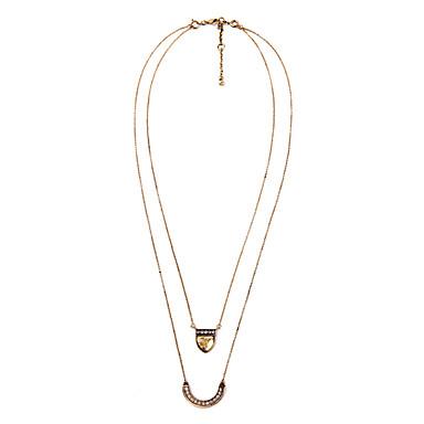 Damskie Warstwy Naszyjniki Geometric Shape Unikalny euroamerykańskiej Gold Biżuteria Na Codzienny Prezenty bożonarodzeniowe 1szt