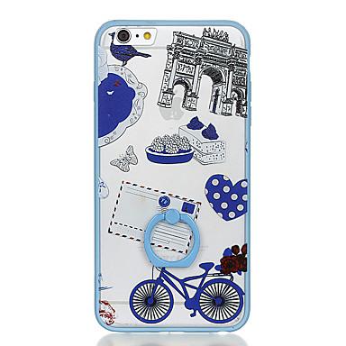 Na Uchwyt pierścieniowy Wzór Kılıf Etui na tył Kılıf Widok miasta Twarde PC na Apple iPhone 6s Plus iPhone 6 Plus iPhone 6s iphone 6