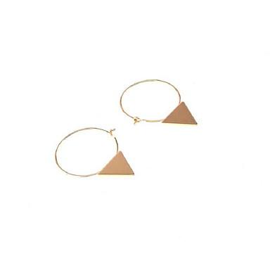 Küpe Set Eşsiz Tasarım Geometrik alaşım Geometric Shape Triangle Shape Altın Gümüş Mücevher Için Günlük 1 çift