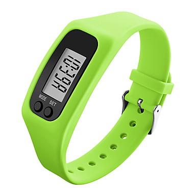 للرجال ساعة المعصم ساعة رياضية رقمي عداد الخطى غني بالألوان LCD سيليكون فرقة حلوى أسود الأبيض أزرق أخضر الأصفر روز