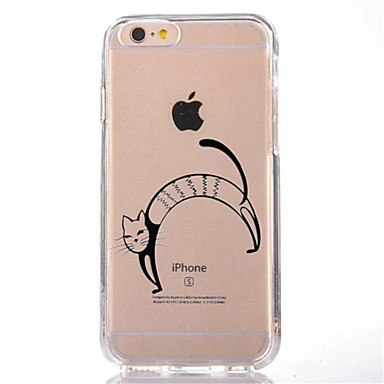 Için Şeffaf Temalı Pouzdro Arka Kılıf Pouzdro Kedi Yumuşak TPU için AppleiPhone 7 Plus iPhone 7 iPhone 6s Plus iPhone 6 Plus iPhone 6s