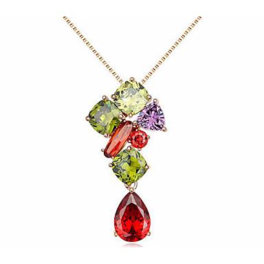 Kadın's Yuvarlak Eşsiz Tasarım Moda Zincir Kolyeler Mücevher Zincir Kolyeler , Günlük
