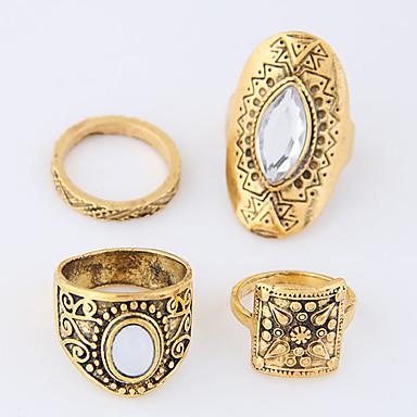 خواتم ميدي سبيكة عتيقة euramerican في ذهبي فضي مجوهرات فضفاض 1SET