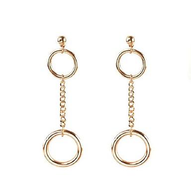 Κρεμαστά Σκουλαρίκια Κυκλικό Μοναδικό Κράμα Round Shape Χρυσό Ασημί Κοσμήματα Για Καθημερινά Causal 1 ζευγάρι