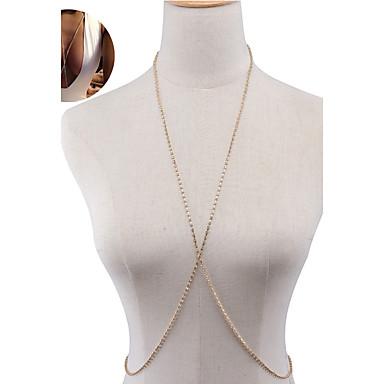 Damskie Biżuteria Łańcuch nadwozia / Belly Chain Modny Kryształ górski Stop Star Shape Gold Silver Biżuteria NaSpecjalne okazje Urodziny