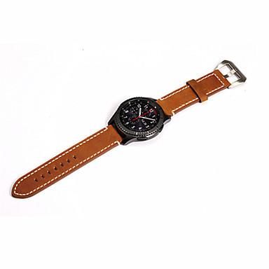 Watch Band varten Gear S3 Frontier Gear S3 Classic Samsung Galaxy Perinteinen solki Moderni solki Ruostumaton teräs Nahka Rannehihna