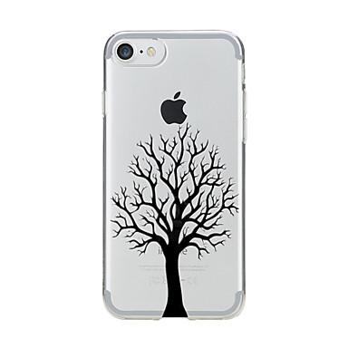 Için Şeffaf Temalı Pouzdro Arka Kılıf Pouzdro Ağaç Yumuşak TPU için AppleiPhone 7 Plus iPhone 7 iPhone 6s Plus iPhone 6 Plus iPhone 6s