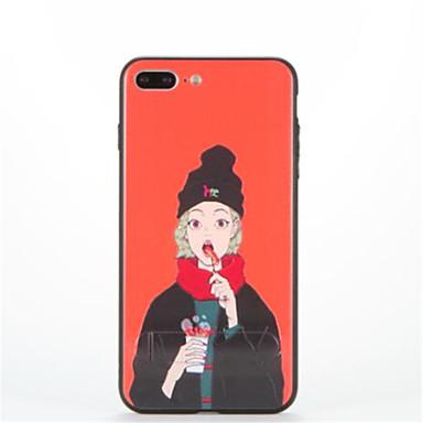 Varten Tuella Kuvio Etui Takakuori Etui Seksikäs nainen Kova PC varten AppleiPhone 7 Plus iPhone 7 iPhone 6s Plus iPhone 6 Plus iPhone 6s