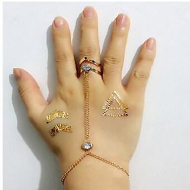 Damskie Obrączki Modny Syntetyczne kamienie szlachetne Stop Geometric Shape Biżuteria Na Codzienny