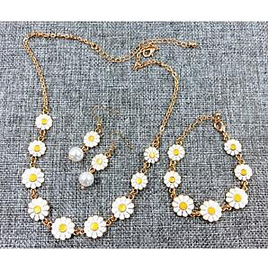 للمرأة قلائد الحلي مجوهرات Flower Shape كروم زهري موديل الورد أزهار أسلوب بسيط موضة euramerican في مجوهرات من أجل تهاني شكرا لك هدية يوميا