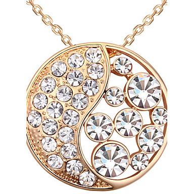 Damskie Naszyjniki z wisiorkami Kryształ Round Shape Okragły Modny Biżuteria Na