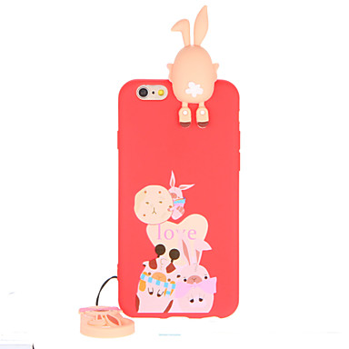 Na Wzór Kılıf Etui na tył Kılıf Kreskówka 3D Miękkie TPU na Apple iPhone 7 Plus iPhone 7 iPhone 6s Plus iPhone 6 Plus iPhone 6s iphone 6