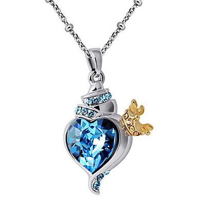 Kadın's Uçlu Kolyeler Kristal Heart Shape Eşsiz Tasarım Kişiselleştirilmiş Mücevher Uyumluluk