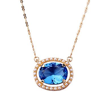 Γυναικεία Κρεμαστά Κολιέ Oval Shape Μοναδικό Μοντέρνα Κοσμήματα Για Γάμου