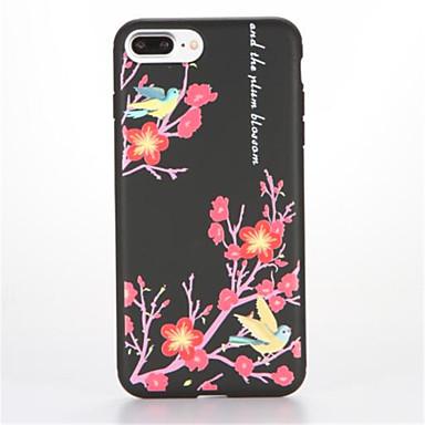 إلى مثلج نموذج غطاء غطاء خلفي غطاء شجرة ناعم TPU إلى Apple فون 7 زائد فون 7 iPhone 6s Plus iPhone 6 Plus iPhone 6s أيفون 6