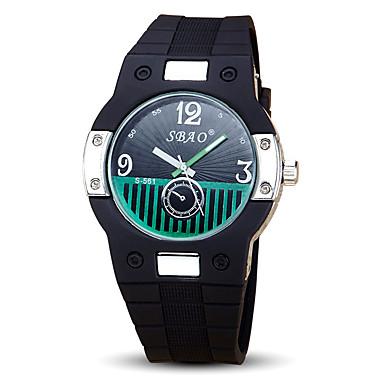 Kadın's Spor Saat Moda Saat Quartz Silikon Bant Siyah