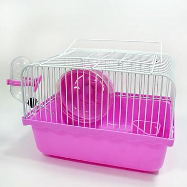 Kemirgenler Kürklüler Hamster Plastik Metal Portatif Çok-fonksiyonlu Cosplay Mağarada Kahve Mavi Pembe