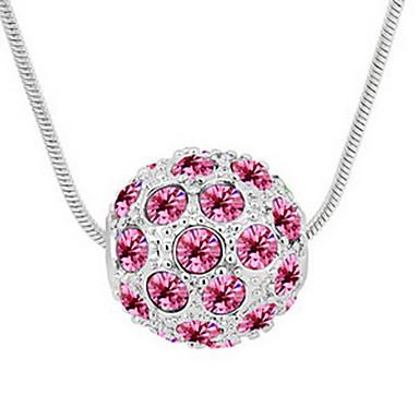Damskie Naszyjniki z wisiorkami Kryształ Round Shape Unikalny Biżuteria Na Codzienny