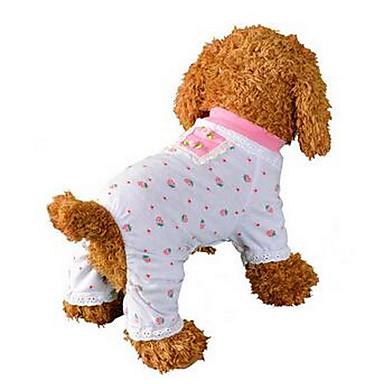 كلب حللا منامة ملابس الكلاب فاكهة زهري قطن كوستيوم للحيوانات الأليفة للرجال للمرأة جميل كاجوال/يومي