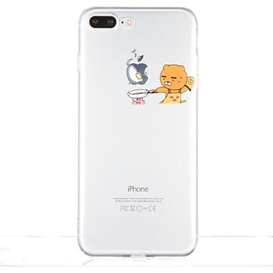 Για Διαφανής Με σχέδια tok Πίσω Κάλυμμα tok Παίζοντας με το λογότυπο της Apple Μαλακή TPU για AppleiPhone 7 Plus iPhone 7 iPhone 6s Plus