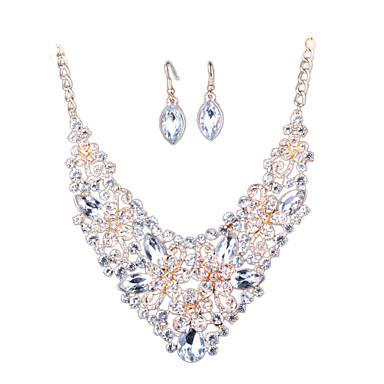 Set bijuterii Ștras imitație de diamant Aliaj Declaratie de bijuterii de Mireasă La modă Euramerican Bijuterii Alb Curcubeu RosuSeturi de