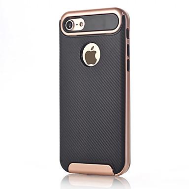 Pouzdro Uyumluluk Apple iPhone 7 Plus iPhone 7 Şoka Dayanıklı Arka Kapak Tek Renk Sert Karbon fiber için iPhone 7 Plus iPhone 7 iPhone 6s