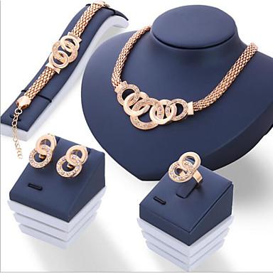 Pentru femei Seturi de bijuterii Euramerican Zilnic Aliaj Rotund 1 Colier 1 Pereche de Cercei 1 Brățară 1 Inel