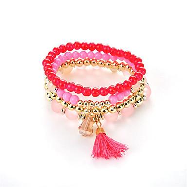 Kadın's Strand Bilezikler - Kristal, Opal Rock Yıldızı, Moda Bilezikler Koyu Sarı / Mavi / Pembe Uyumluluk Düğün / Parti / Yıldönümü