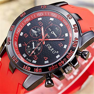 Ανδρικά Μοδάτο Ρολόι Ψηφιακό ρολόι Χαλαζίας Ψηφιακό PU Μπάντα Καθημερινά Μαύρο Λευκή Μπλε Κόκκινο Πορτοκαλί Πράσινο