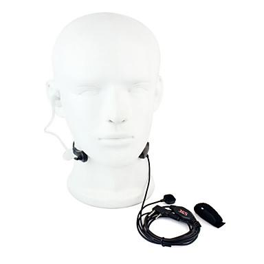 Gardło mic ptt zestaw słuchawkowy walkie talkie tajne akustyczne rurki do kenwood baofeng 365 wanhua tyt hyt