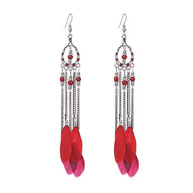 Kadın's Damla Küpeler Mücevher Eşsiz Tasarım Vintage alaşım Yuvarlak Kanatlar / Tüy Mücevher Parti Günlük