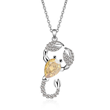 Damen Anderen Krystall Anhängerketten  -  Einzigartiges Design Euramerican Modisch Tier Gold Purpur Hellblau Modische Halsketten Für