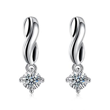 Damskie Dla dziewczynek Kolczyki na sztyft Kryształ Geometryczny Posrebrzany Geometric Shape Biżuteria Na Ślub Impreza Codzienny Casual