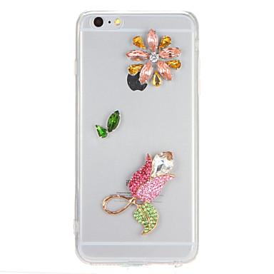 Pentru Stras Transparent Maska Carcasă Spate Maska Shine Glitter Greu PC pentru AppleiPhone 7 Plus iPhone 7 iPhone 6s Plus iPhone 6 Plus