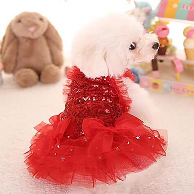 Kissa Koira Hameet Koiran vaatteet Sievä Prinsessa Punainen Pinkki Asu Lemmikit