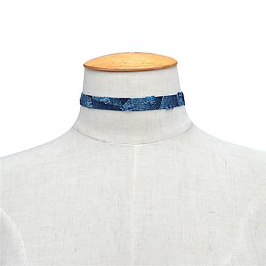 Damskie Pojedynczy Strand Spersonalizowane Modny euroamerykańskiej Naszyjniki choker Biżuteria Materiał Stal wolframowa Naszyjniki choker