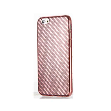 tok Για Apple Επιμεταλλωμένη Πίσω Κάλυμμα Γραμμές / Κύματα Μαλακή TPU για iPhone 7 Plus iPhone 7 iPhone 6s Plus iPhone 6 Plus iPhone 6s