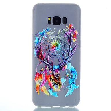 Etui Käyttötarkoitus Samsung Galaxy S8 Plus S8 Hehkuu pimeässä Himmeä Kuvio Takakuori Piirretty Pehmeä TPU varten S8 S8 Plus