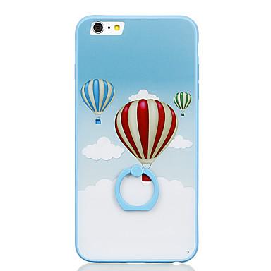 إلى حامل الخاتم نموذج غطاء غطاء خلفي غطاء بالون قاسي PC إلى Apple iPhone 6s Plus iPhone 6 Plus iPhone 6s أيفون 6