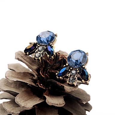 Kolczyki na sztyft Kryształ Unikalny Osobiste euroamerykańskiej Niebieski Biżuteria Na Ślub Impreza Urodziny 1 para