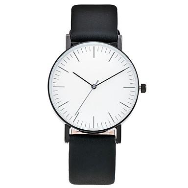 Erkek Bayanların Moda Saat Bilek Saati Quartz / Deri Bant Havalı Günlük Siyah Beyaz Yeşil Beyaz Siyah Kahverengi