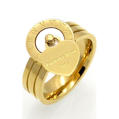 Bărbați Pentru femei Band Ring Onyx Alb Negru Agat Oțel titan Inimă Personalizat Γεωμετρικά Design Unic Vintage Inimă Euramerican Modă