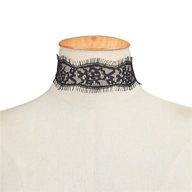 Damskie Pojedynczy Strand Spersonalizowane Modny euroamerykańskiej Europejski Naszyjniki choker Biżuteria Koronka Naszyjniki choker ,