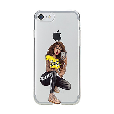 Case For Apple iPhone X iPhone 8 Transparent Pattern Back Cover Sexy Lady Soft TPU for iPhone X iPhone 8 Plus iPhone 8 iPhone 7 Plus
