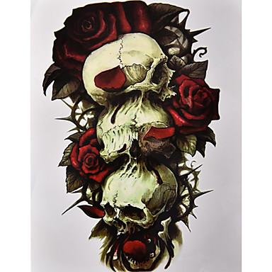 1 Naklejki z tatuażem Seria kwiatowa WzórDamskie Męskie Tattoo Flash Tatuaże tymczasowe