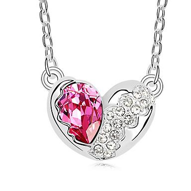 Kadın's Kalp Eşsiz Tasarım Uçlu Kolyeler Kristal Uçlu Kolyeler ,