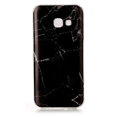 Pouzdro Uyumluluk Samsung Galaxy A5(2017) A3(2017) IMD Temalı Arka Kapak Mermer Yumuşak TPU için A3 (2017) A5 (2017)
