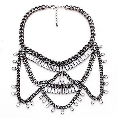 Kadın's Açıklama Kolye Mücevher Mücevher Değerli Taş alaşım Doğa Kişiselleştirilmiş Euramerican Siyah Mücevher Için Parti Günlük 1pc