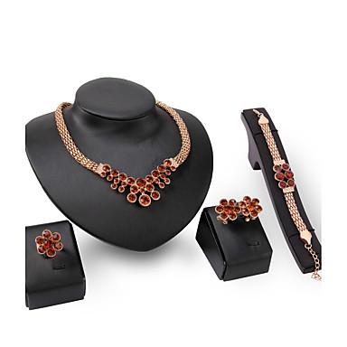 للمرأة مجموعة مجوهرات روبي الاصطناعية مخصص euramerican في بيان المجوهرات موضة زفاف حزب مناسبة خاصة خطوبة الأحجار الكريمة الاصطناعية حجر