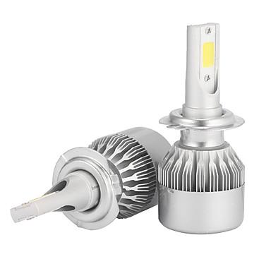 voordelige Autokoplampen-2 stuks h7 7200lm koplamp conversie kits Koplampgloeilampen bridgelux cob chip